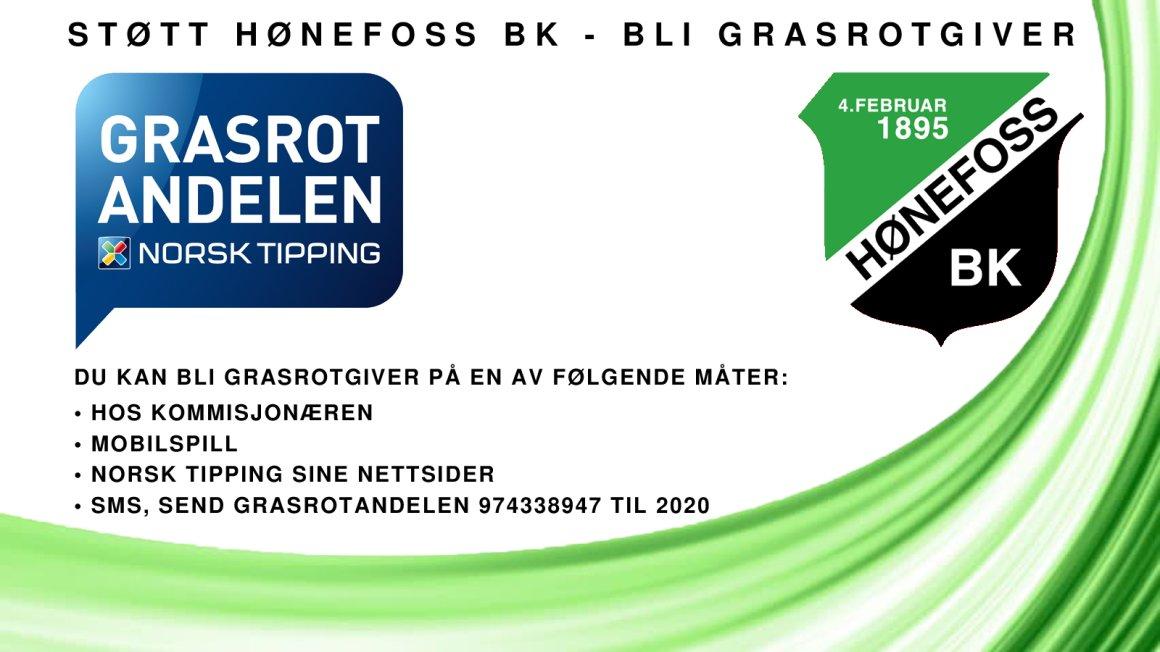 Støtt Hønefoss BK - bli grasrotgiver