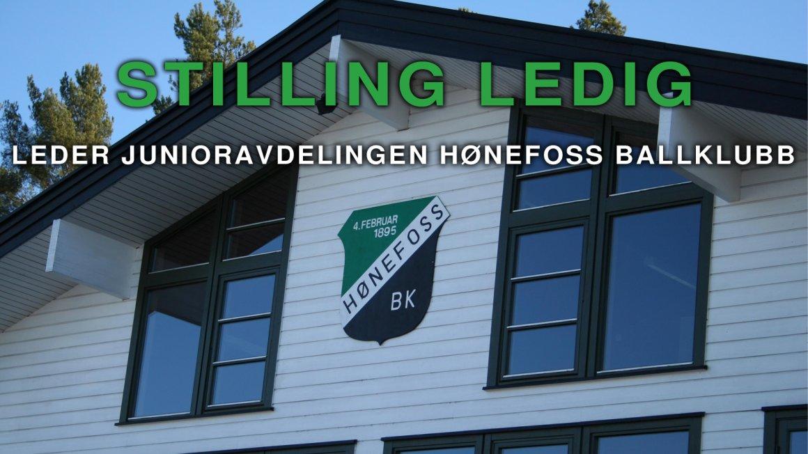 Leder junioravdelingen Hønefoss Ballklubb