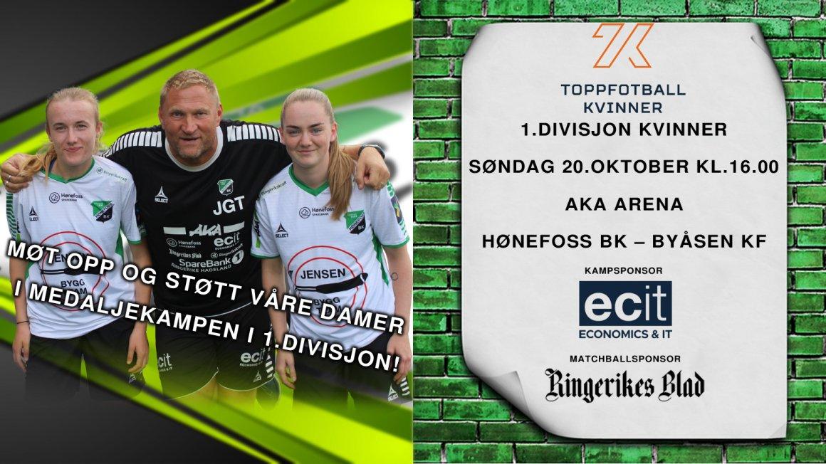 Søndag spiller våre damer sin nest siste hjemmekamp i 1.divisjon